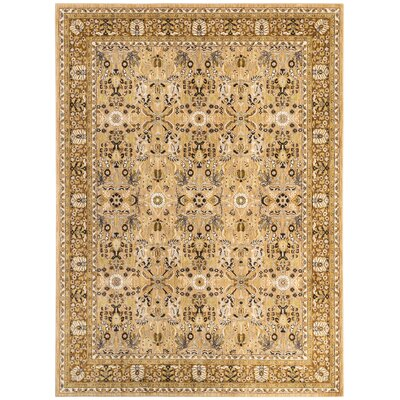 Jepson Gold/Silver Area Rug Rug Size: Rectangle 8 x 11