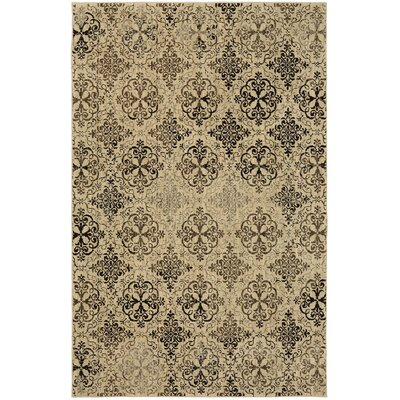 Millard Beige/Brown Area Rug Rug Size: Rectangle 53 x 710