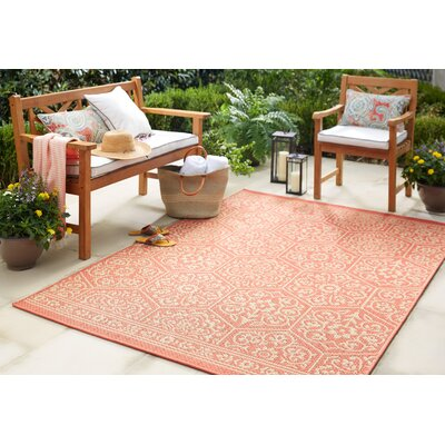 Dillonvale Coral Indoor/Outdoor Area Rug Rug Size: Rectangle 53 x 76
