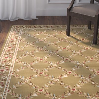 Taufner Green Checked Area Rug