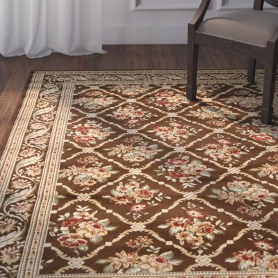 Taufner Brown Area Rug Rug Size: Runner 23 x 16