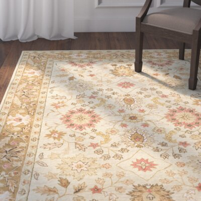 Lansberry Light Green/Cream Area Rug