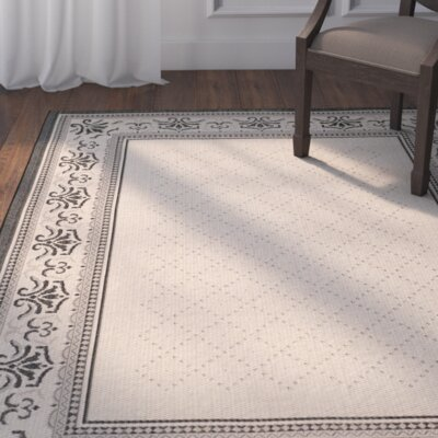 Beasley Vine Border Outdoor Rug Rug Size: Rectangle 53 x 77