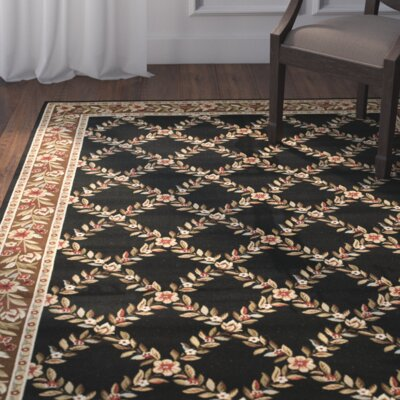 Taufner Black/Brown Area Rug Rug Size: 4 x 6