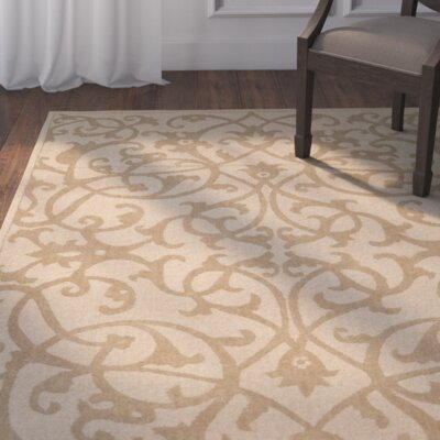 Palmwood Modern Light Brown Area Rug Rug Size: Runner 23 x 12