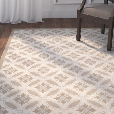 Beasley Beige / Dark Beige Indoor/Outdoor Area Rug Rug Size: 4 x 57