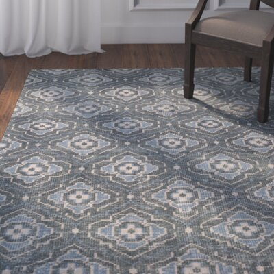 Norwalk Hand-Knotted Blue Area Rug Rug size: 2 x 3
