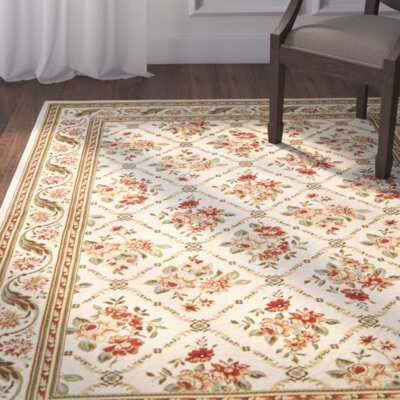Taufner Ivory Area Rug Rug Size: Rectangle 4 x 6