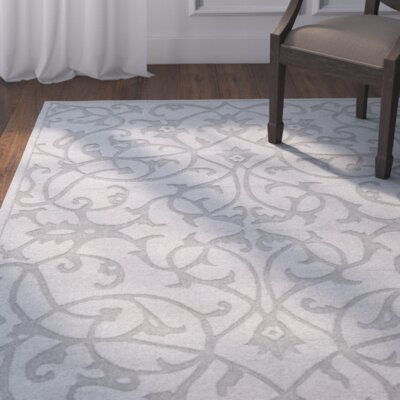 Babille Modern Grey Area Rug Rug Size: Rectangle 83 x 11