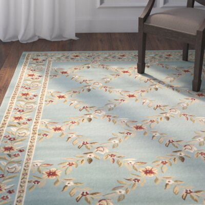 Taufner Blue Checked Area Rug Rug Size: Rectangle 53 x 76