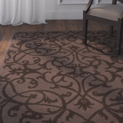 Babille Dark Brown Area Rug Rug Size: 6 x 9