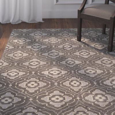 Norwalk Hand-Knotted Beige Area Rug Rug size: 8 x 11