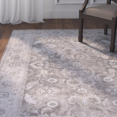 Larita Gray/Taupe Area Rug Rug Size: Rectangle 53 x 77