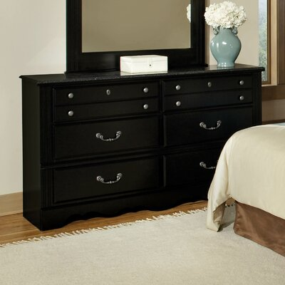 Glen Arbor with Marble Top 6 Drawer Dresser
