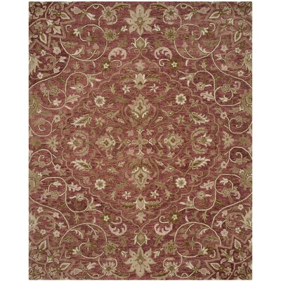 Davila Hand-Tufted Brown/Green Area Rug Rug Size: Rectangle 4 x 6