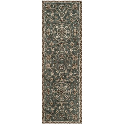 Davila Hand-Tufted Gray/Taupe Area Rug Rug Size: Runner 23 x 7