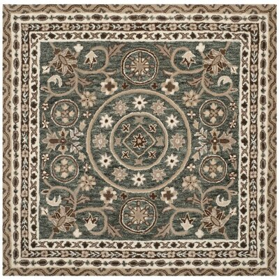 Davila Hand-Tufted Gray/Taupe Area Rug Rug Size: Square 5