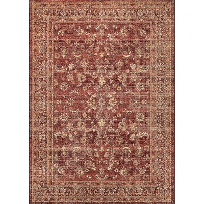 Chisman Ruby/Tan Area Rug