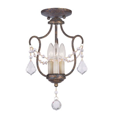 Bayfront 3-Light Candle-Style Chandelier Finish: Ventetian Golden Bronze