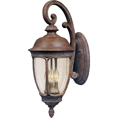 Sundorne 3-Light Outdoor Wall Lantern Size: 25
