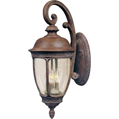 Sundorne 3-Light Outdoor Wall Lantern Size: 33