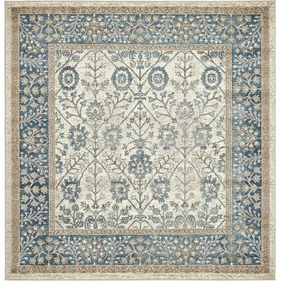 Basswood Cream Area Rug Rug Size: Square 5'