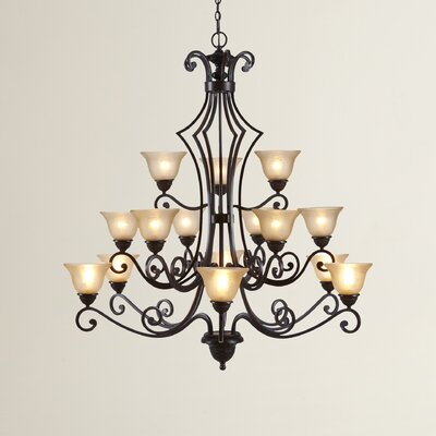 Alsager 15-Light Shaded Chandelier Shade Color: Screen Amber