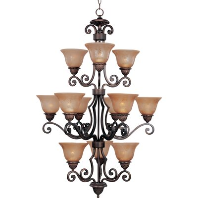 Alsager 12-Light Shaded Chandelier Shade Color: Screen Amber