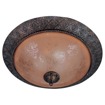 Alsager 2-Light Flush Mount Shade Color: Screen Amber