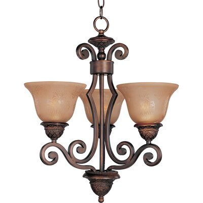 Alsager 3-Light Shaded Chandelier Shade Color: Screen Amber