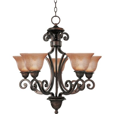 Alsager 5-Light Shaded Chandelier Shade Color: Screen Amber