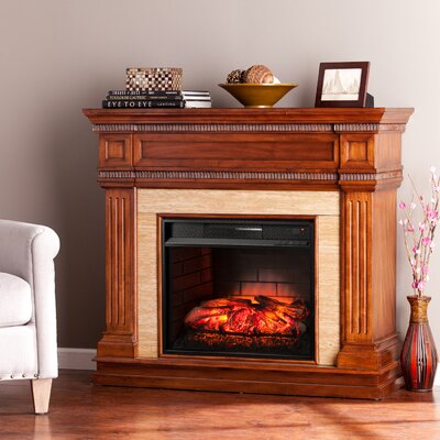 Gonzaga Stone Look Infrared Electric Fireplace