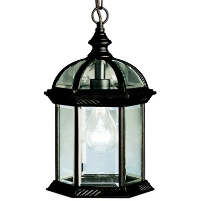 Kyla 1-Light Foyer Pendant Finish: Black