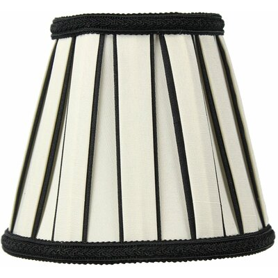 Classics 5 Shantung Empire Candelabra Shade Color: Eggshell / Black
