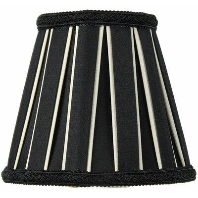 Classics 5 Shantung Empire Candelabra Shade Color: Black / Eggshell