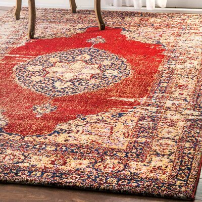 Harbor View Red Area Rug Rug Size: 5' x 8'