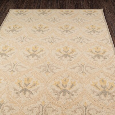 Suzanne Hand-Tufted Beige Area Rug Rug Size: Rectangle 2 x 3