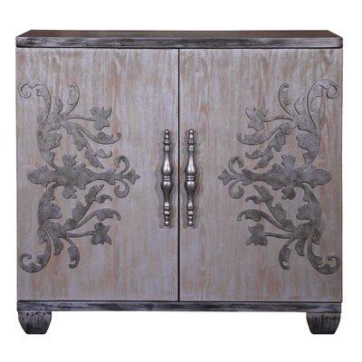 Ponce Metallic Overlay Bar Cabinet