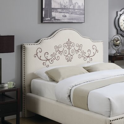 Ely Upholstered Panel Headboard Size: California King