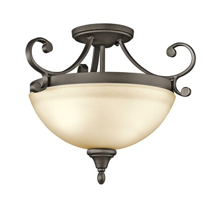 Aghalislone 2 Light Semi Flush Mount