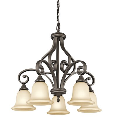 Aghalislone 5 Light Shaded Chandelier