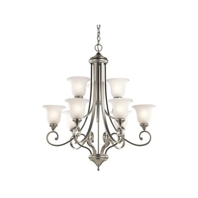 Bretton 9-Light LED Shaded Chandelier