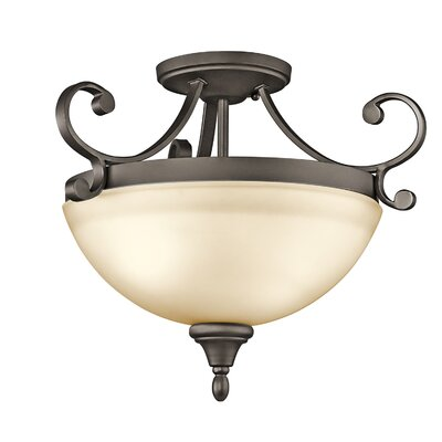 Bretton 2-Light LED Semi Flush Mount