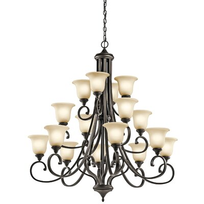 Bretton 16-Light LED Shaded Chandelier