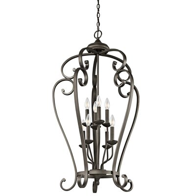 Greenwald Metal 8-Light Candle-Style Chandelier Finish: Bronze, Size: 44.75