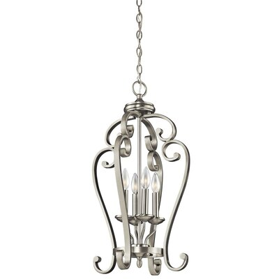 Bretton 4-Light Candle-Style Chandelier Finish: Brushed Nickel