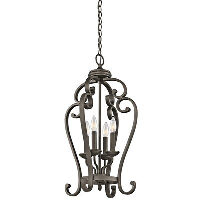 Greenwald Metal 4-Light Candle-Style Chandelier Finish: Bronze