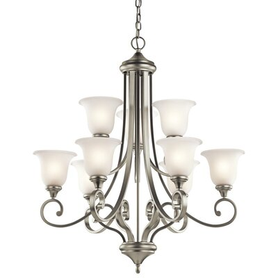 Aghalislone 9 Light Shaded Chandelier