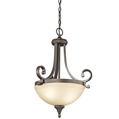 Bretton 1-Light Inverted Pendant Size: 25 H x 17.5 W
