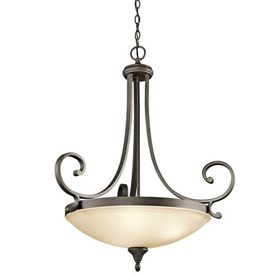 Bretton 1-Light Inverted Pendant Size: 32.75 H x 26.75 W